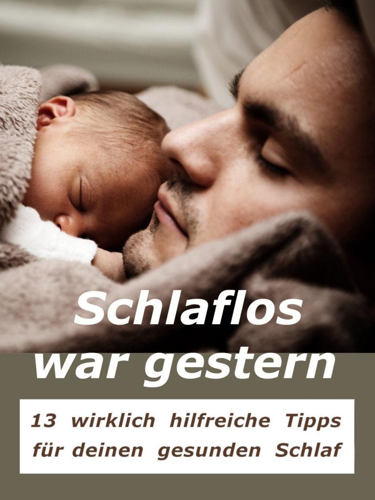 Vater und Baby schlafen